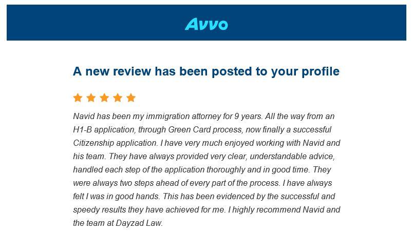 Avvo Review 2-14-19